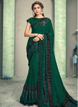 Cutdana Work Designer Contemporary Style Saree