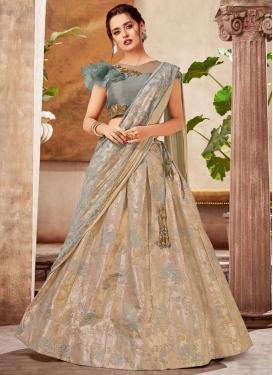 Cutdana Work Designer Lehenga Style Saree