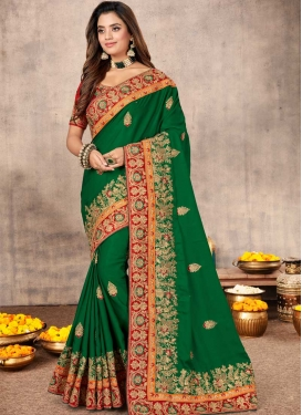 Cutdana Work Designer Traditional Saree