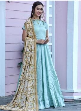 Cutdana Work Floor Length Gown