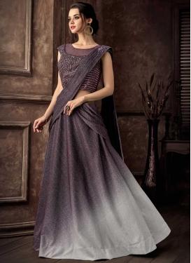 Cutdana Work Lycra Designer Lehenga Style Saree