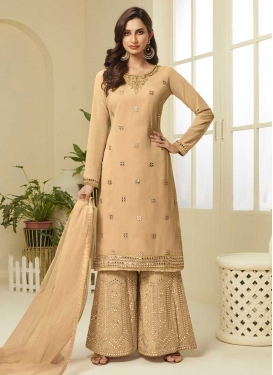 Cutdana Work Palazzo Style Pakistani Salwar Suit