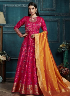 Cutdana Work Readymade Anarkali Suit