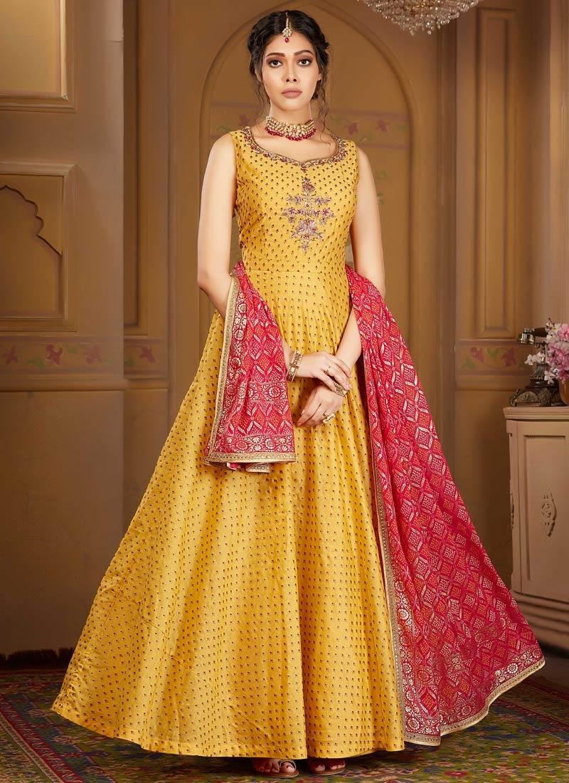 Cutdana Work Readymade Anarkali Suit