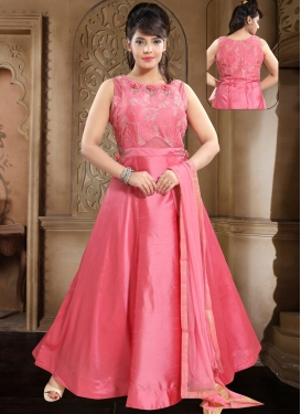 Cutdana Work Readymade Floor Length Gown