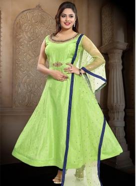 Cutdana Work Readymade Floor Length Gown