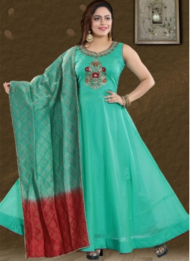 Cutdana Work Readymade Long Length Gown