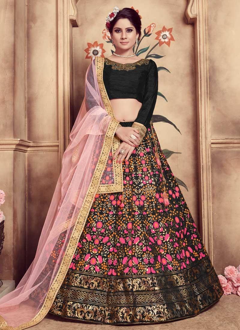 Cutdana Work Silk Trendy Lehenga Choli