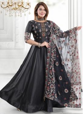 Cutdana Work Trendy Floor Length Salwar Suit