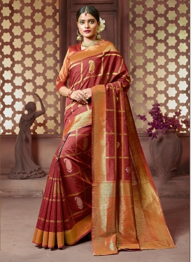 Dainty Art Silk Ceremonial Trendy Saree