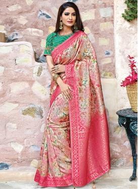 Dashing Art Silk Multi Colour Weaving Traditional Saree