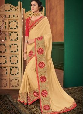 Dashing Cream Ceremonial Classic Designer Saree
