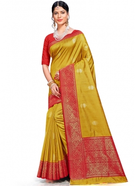 Delectable Designer Traditional Saree For Ceremonial