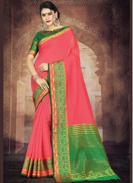 Delightful Hot Pink Casual Casual Saree