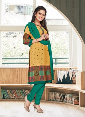 Delightsome Print Casual Churidar Suit