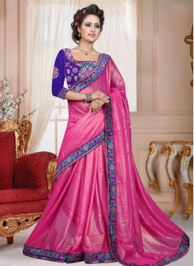 Delightsome Rose Pink Color Casual Saree