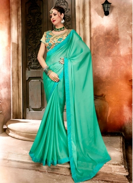 Demure Embroidered Party Designer Saree