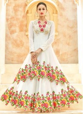 Demure Embroidered Work Asymmetrical Designer Salwar Suit