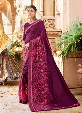 Deserving Embroidered Festival Saree