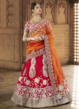 Deserving Silk Booti Work A Line Lehenga Choli