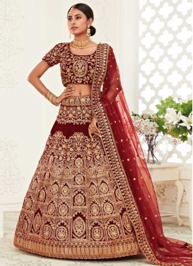 Designer A Line Lehenga Choli For Bridal