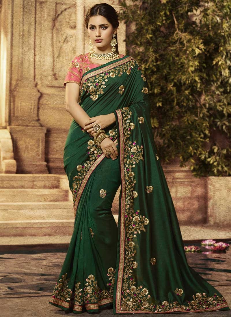 Designer Contemporary Saree For Bridal