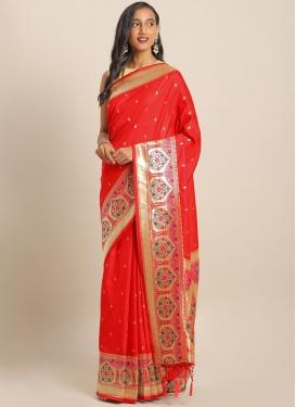 Designer Contemporary Saree For Ceremonial
