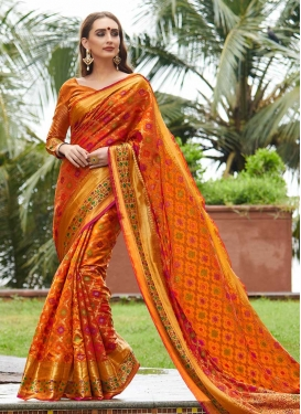 Designer Contemporary Saree For Festival