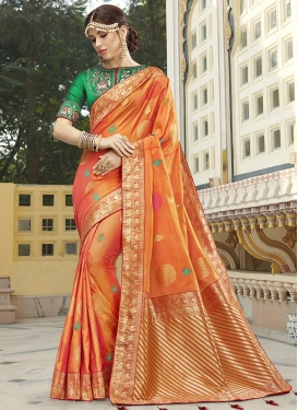 Designer Contemporary Style Saree For Bridal