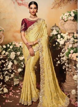 Designer Contemporary Style Saree For Bridal