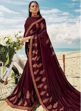 Designer Contemporary Style Saree For Festival