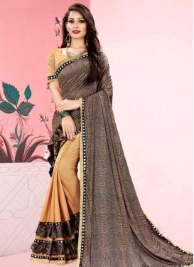 Designer Half N Half Saree For Casual