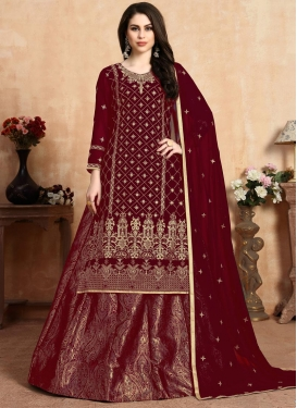 Designer Kameez Style Lehenga Choli For Ceremonial