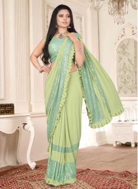 Designer Lehenga Style Saree For Ceremonial