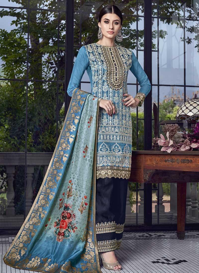 Designer Palazzo Salwar Kameez For Ceremonial