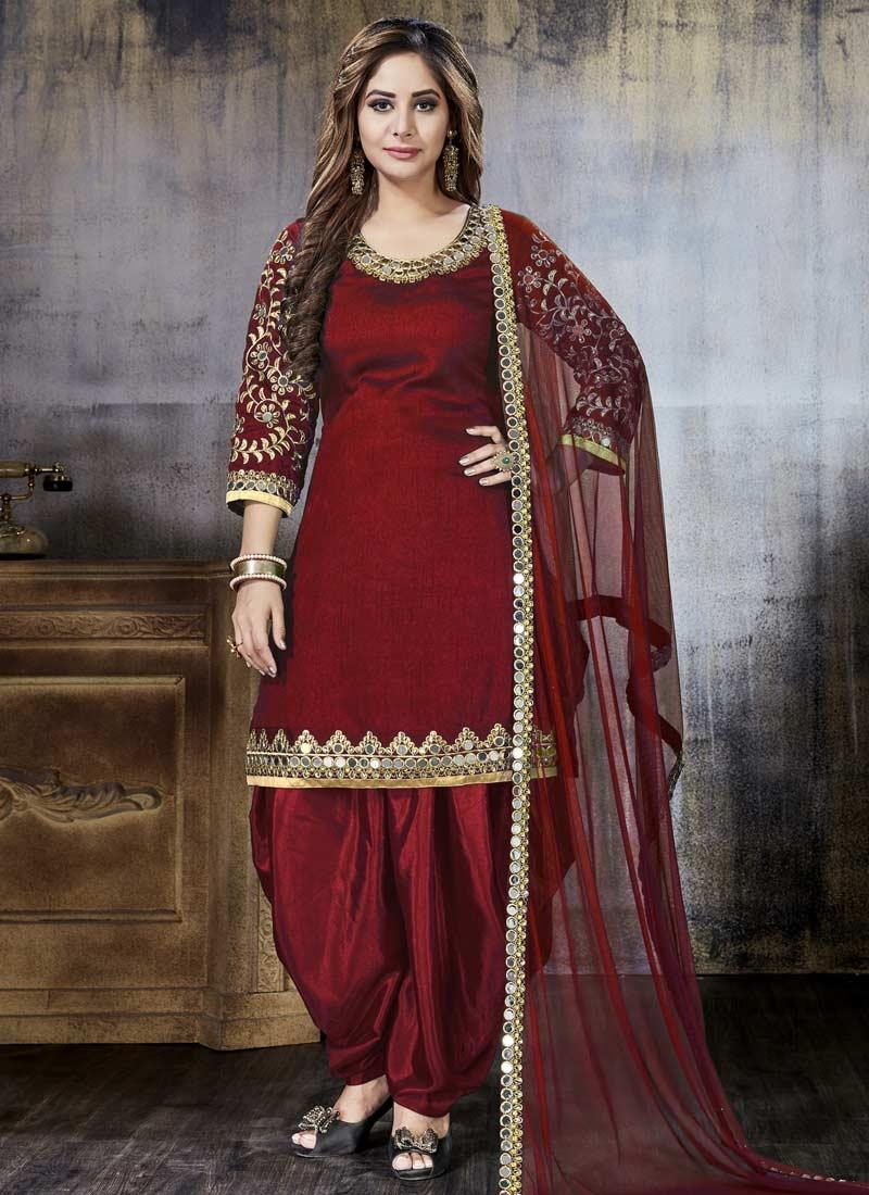 Designer Patiala Salwar Suit For Ceremonial