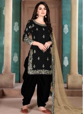 Designer Semi Patiala Salwar Suit