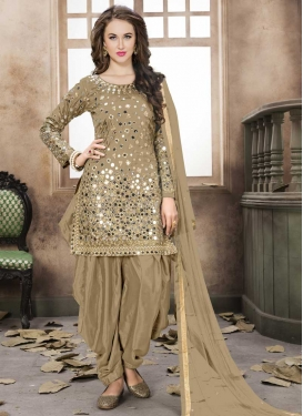 Designer Semi Patiala Salwar Suit For Ceremonial