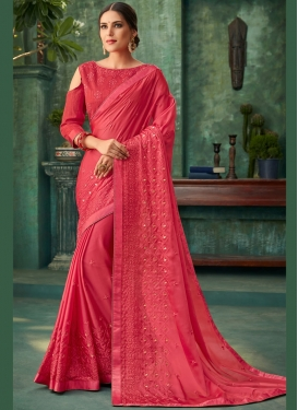 Desirable Zari Faux Georgette Designer Saree