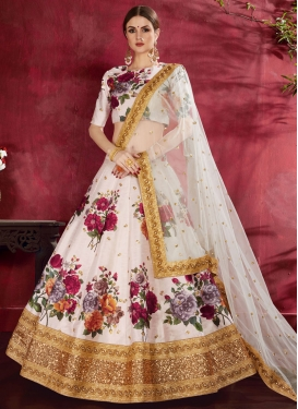 Digital Print Work A - Line Lehenga