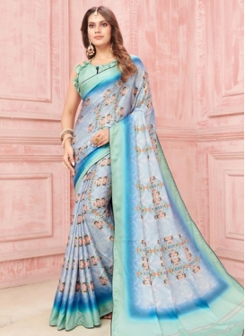 Digital Print Work Art Silk Designer Traditional Saree
