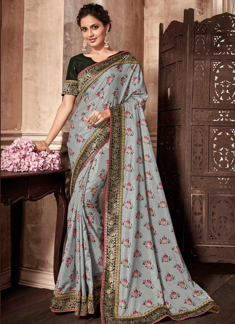 Digital Print Work Art Silk Trendy Classic Saree