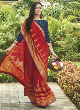 Digital Print Work Brasso Trendy Classic Saree