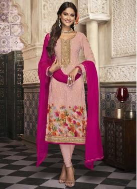 Digital Print Work Churidar Salwar Suit