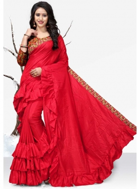 Digital Print Work Classic Designer Saree