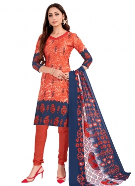 Digital Print Work Cotton Churidar Salwar Kameez