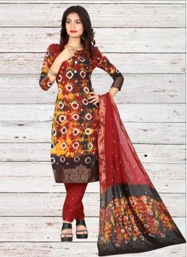 Digital Print Work Cotton Pant Style Classic Salwar Suit