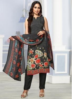 Digital Print Work Crepe Silk Pant Style Classic Salwar Suit