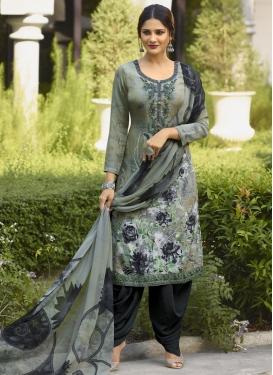 Digital Print Work Designer Patiala Salwar Kameez