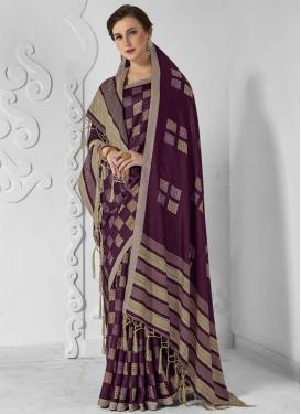 Digital Print Work Designer Traditional Saree For Casual